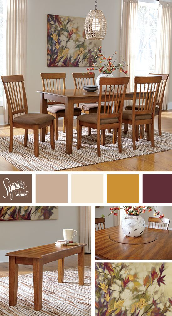 Great Colors for the Dining Room    Berringer Dining Room   Ashley  Furniture Industries. 62 best Dining Rooms images on Pinterest   Ashley furniture