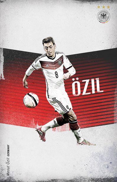 World Cup 2014 by Cristina Martinez, via Behance Ozil Germany