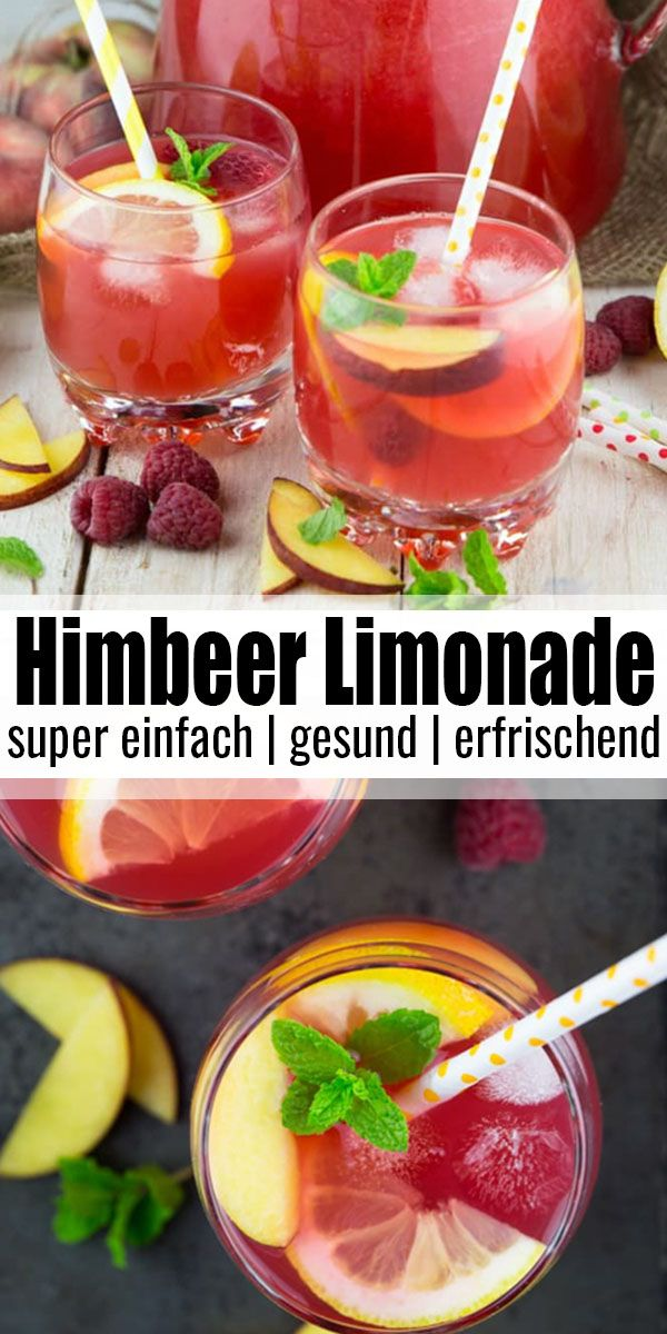 Pfirsich-Himbeer Limonade