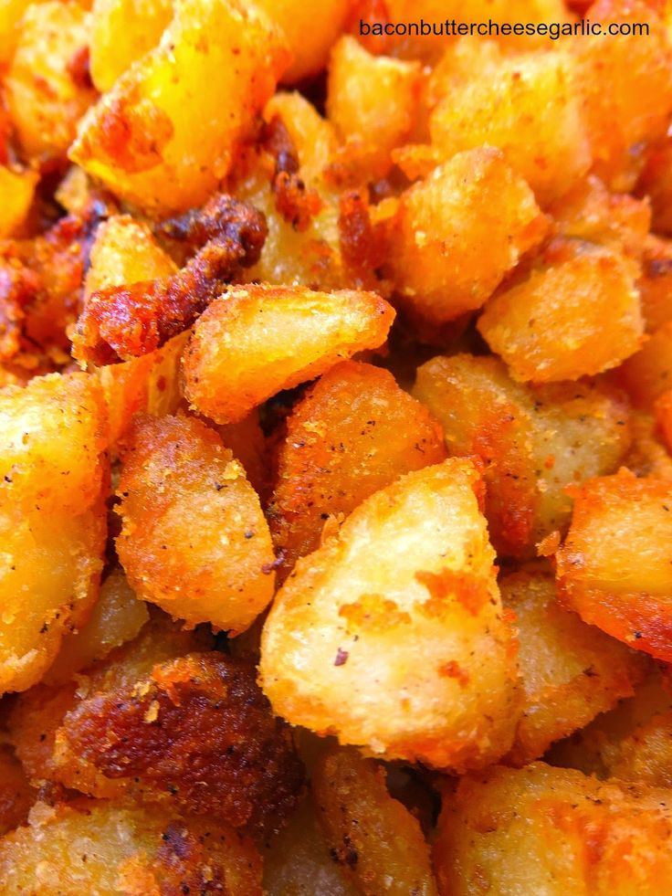 English Roast Potatoes...parboiled potatoes that are drained and then cooked and sort of fried in the oven in bacon grease (or butter).  They are divine!
