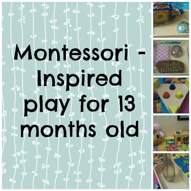 Montessori - Inspired activities for 13 months old child