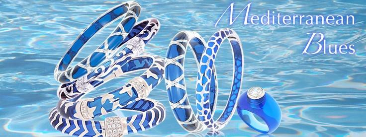 Angélique de Paris  blue jewelry