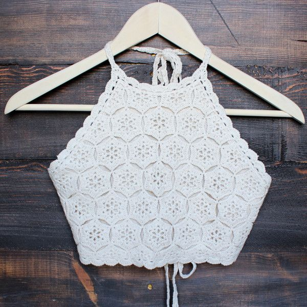sahara crochet crop halter top - sand – shop hearts