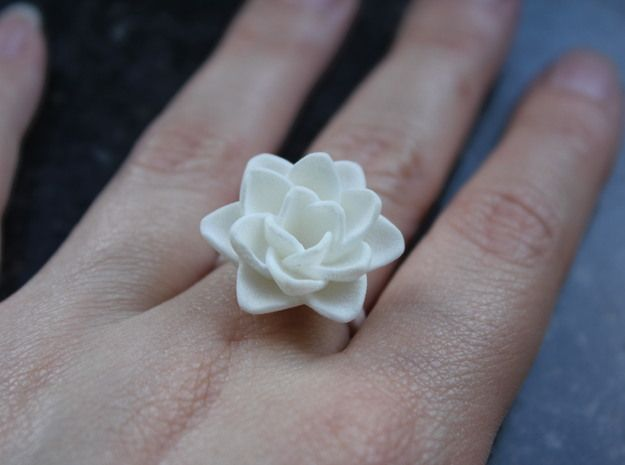 Rose Ring 17.3mm  3d printed Jewelry Rings Rose. #shapeways