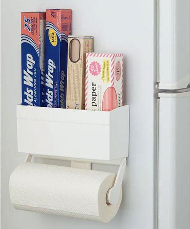 キッチン狭くて困ってる人 ニトリにすごいやつ売ってるよ キッチンペーパーホルダー キッチンペーパー 収納 冷蔵庫 横 収納