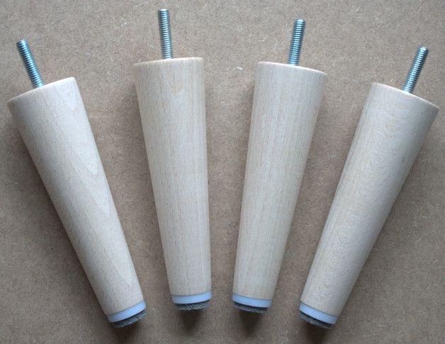 Möbelfüße Holzfüße Tischbein Sofafuss gedrechselt