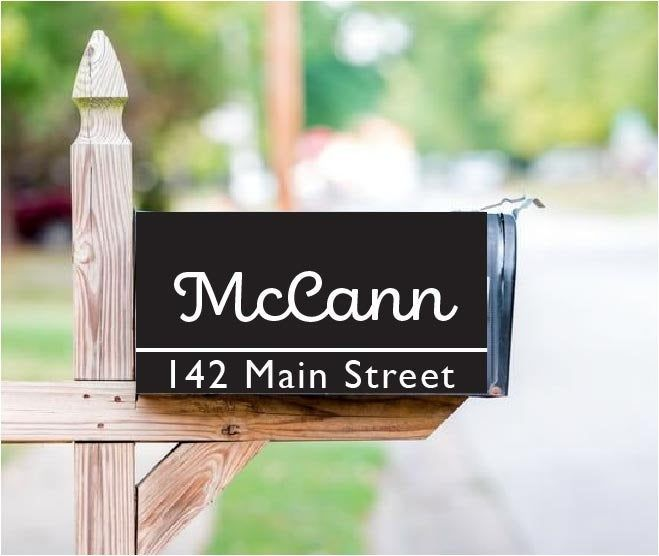 Custom Full Magnetic Mailbox Cover With Your Name Address Or Etsy Mailbox Covers Custom Mailboxes Personalized Mailbox