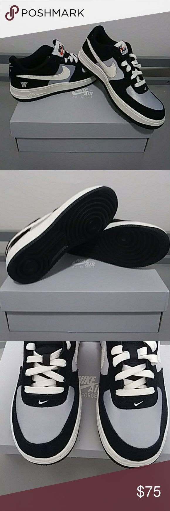 NWT 5Y Nike Air Force 1 Low top Basketball Shoes Tried on, never worn Nike Shoes Sneakers