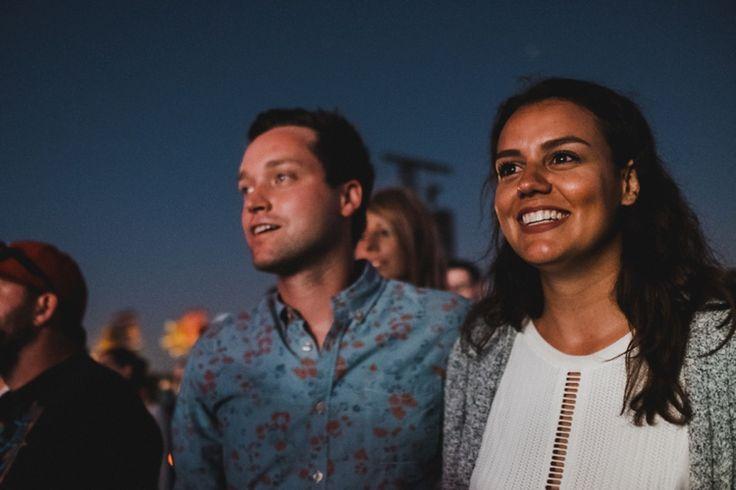 Martin and Lisa smiling during concert at Wayhome #taralillyphotography