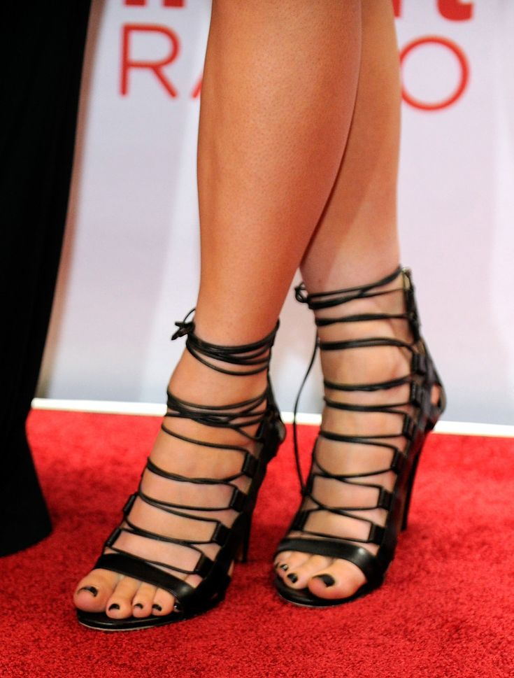 TV personality Kylie Jenner (shoe detail) attends the iHeartRadio Music Festival at the MGM Grand Garden Arena on September 21, 2013 in Las Vegas, Nevada.