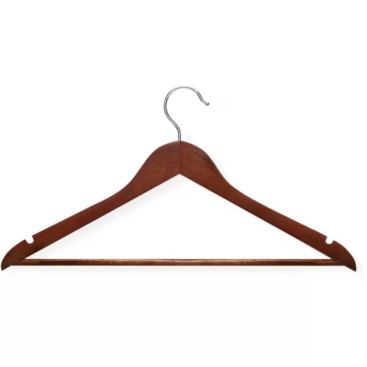 Honey-Can-Do Basic Shirt Hanger, Cherry Finish, 20pk - Walmart.com