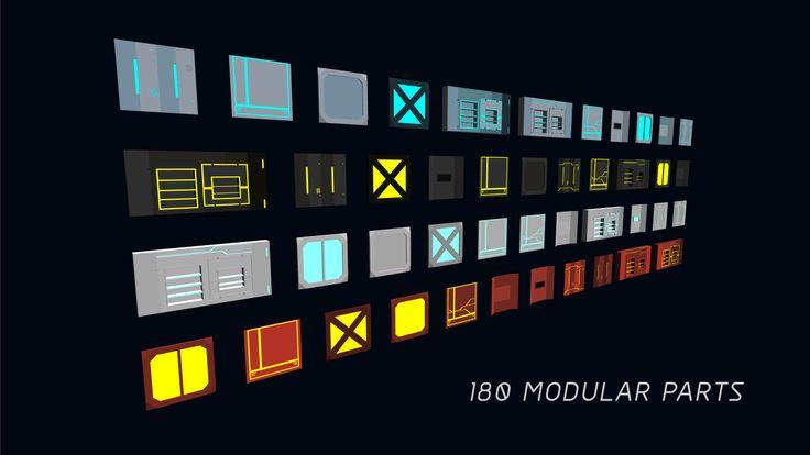 3D Modular Sci-Fi Environment Pack on Unity Asset Store 5