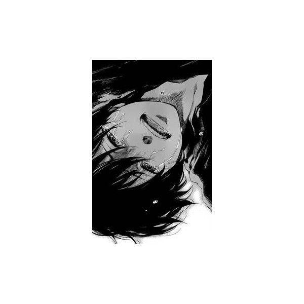 Smutna Dziewczyna Anime ❤ liked on Polyvore featuring anime, manga, anime pics, girls, sad and filler