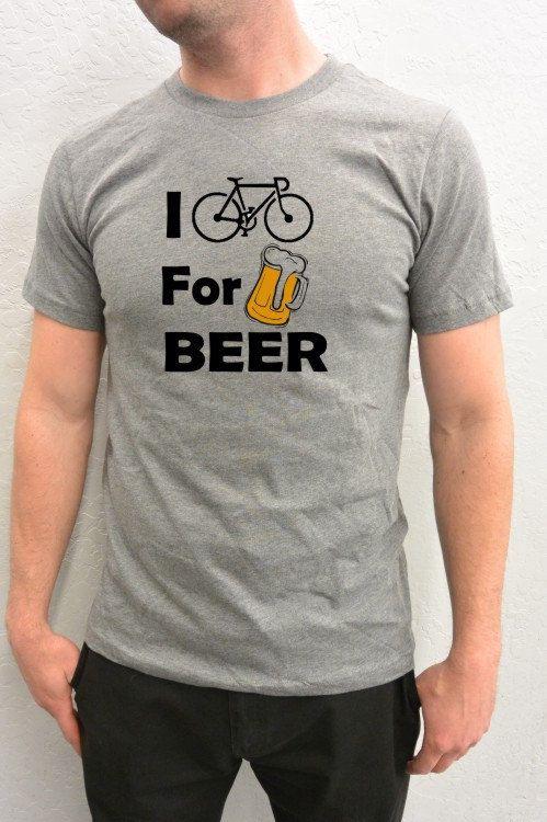 Bicycle TShirt I Bike for Beer Cycling TShirt gift by SpokeNwheelz, $22.95