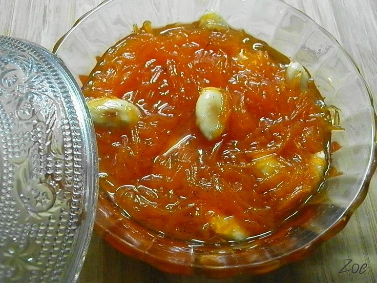 Carrot spoon sweet