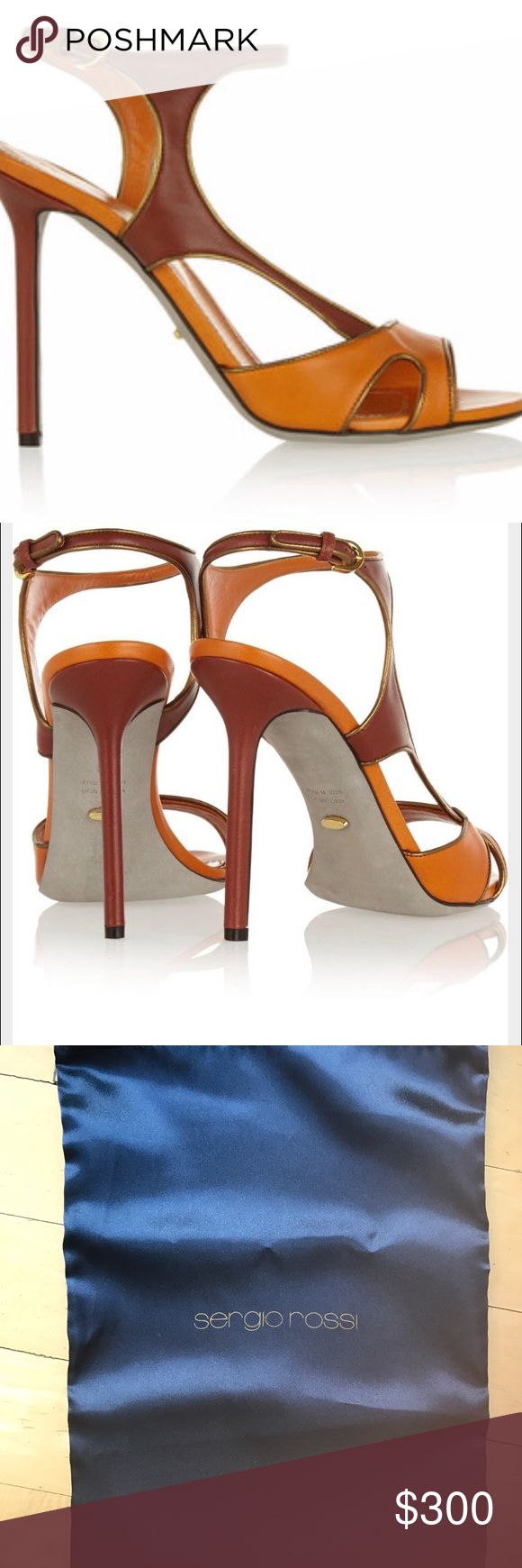 One day only! NWT Sergio Rossi Gleam Sandals NWT Sergio Rossi Gleam Sandals, size 9.5, Bright Orange Sergio Rossi Shoes Heels