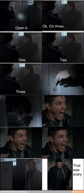 One of my fave scenes.  And the one where Dean was on the airplane.  Too funny!  Supernatural