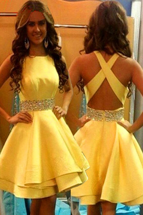 2016 homecoming dress,homecoming dress,short prom dress,yellow homecoming dress,cute homecoming dress