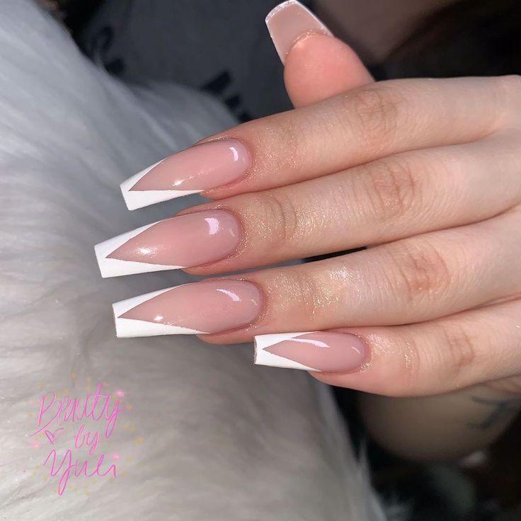 Auf French Instagram Nail Strawberry Garden Kundasang Vtip Yuli Yuli S On Instagram V Tip French In 2020 Nageldesign Stiletto Susse Nagel Traumnagel