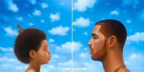 Blue Ivy Carter is not on the cover of Drake's new album