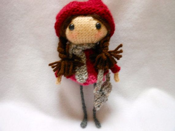 Little Knitted Doll Handmade with Knitted Clothes by KatesCache, $18.00