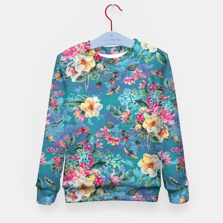 Floral Ocean III Kid's Sweater by ValentinaSevza 24.95€