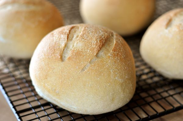 These Artisan Bread Bowls are one of two favorite bread bowl recipes (the other is here). They are hearty and dense and perfect for filling up with a delicious, comforting soup. [amd-zlrecipe-recip…