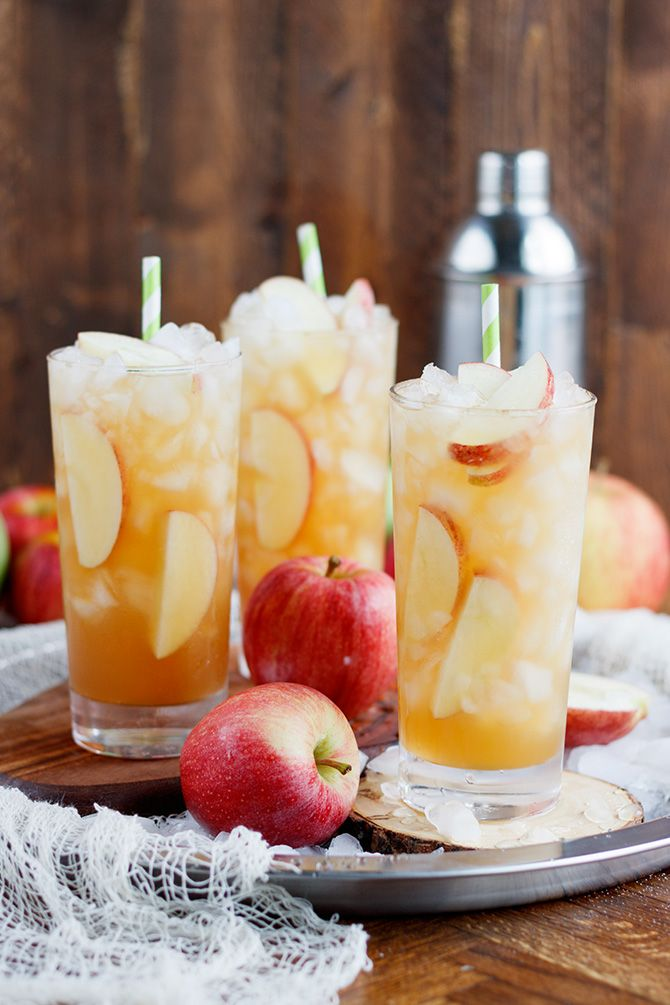 A long island classic turned into a fall inspired long island apple iced tea with apples and apple cider to enjoy all fall and winter.