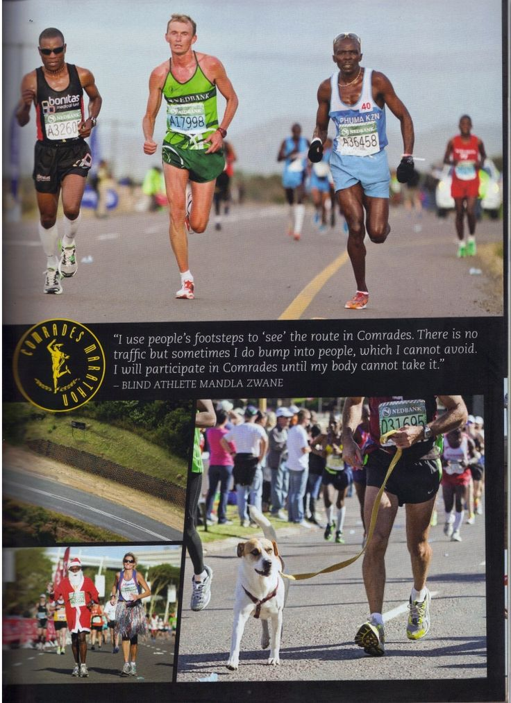 Petros Sosibo, running for Bonitas, under the management of Craig Fry @Craig Fry, features inside the Comrades Marathon 2013 Magazine.... Truly a really great publication.   Well done to all at CMA for this great souvenir!
