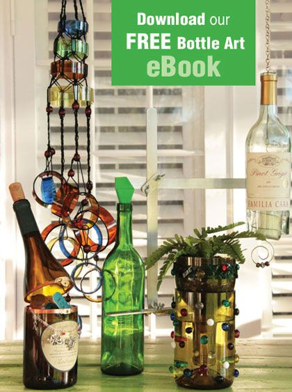 "Turn old glass bottles and jars into fun, unique works of art. Delphi Glass, the glass experts, have everything you need for Recycled Bottle Art, including NEW project kits from Diamond Tech and our FREE eBook. It's not just recycling, it's ""upcyling""!"
