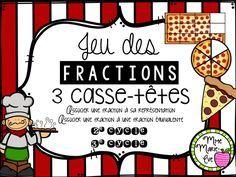 21 casse-têtes travaillant la notion des fractions équivalentes.