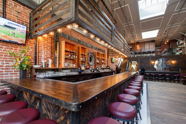 Redford an unapologetically american tavern on the corner metals and bread boxes - Brick bar design ...
