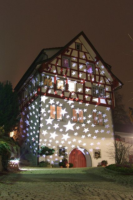 Merry Christmas!  The house of stars in Rheineck, #Switzerland by Kecko, via Flickr