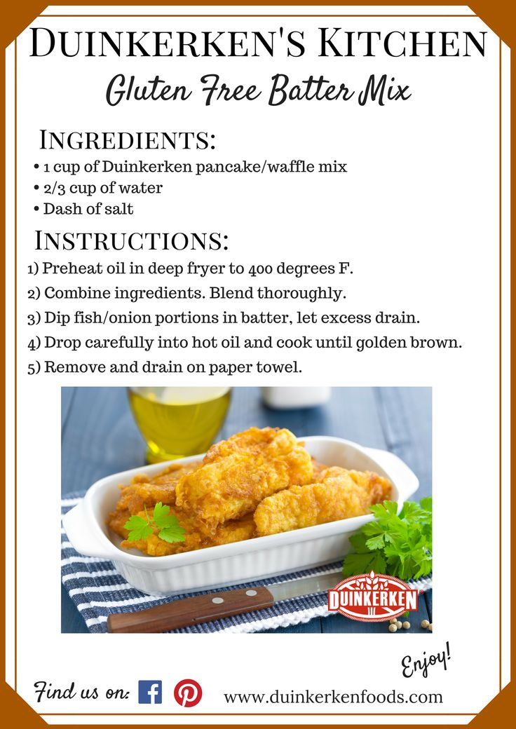 Try our new delicious batter mix recipe tonight! The mix works great for onion rings and fish batter!