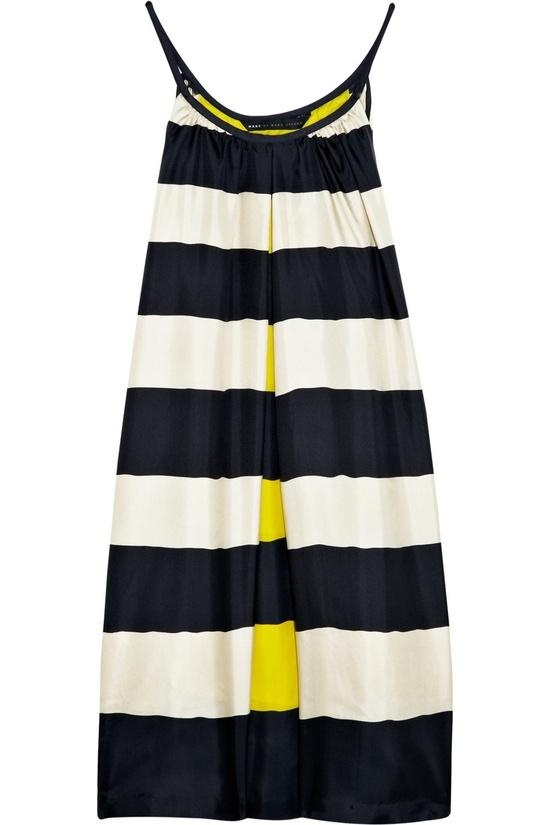 blue and white stripes/yellow for summer