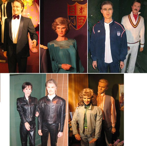 Great Yarmouth wax works - Jim Davidson, Princess Diana, Michael Owen, Ian Botham, Jason Donovan, Kylie Minogue, David Beckham and Victoria