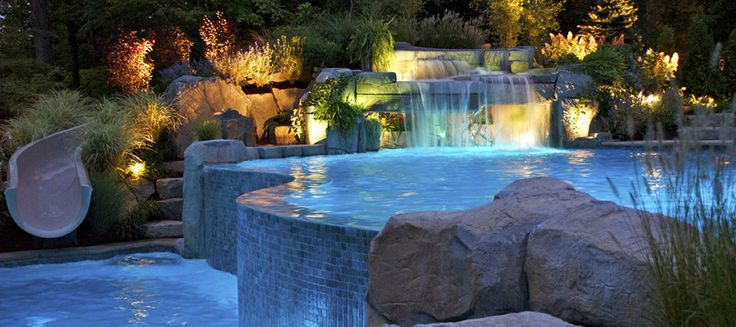 1000 ideas about above ground pool slide on pinterest for Above ground pool waterfall ideas