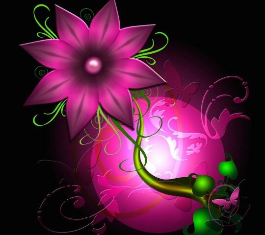 I Would Be A Bright Pink Out Of This World Flower
