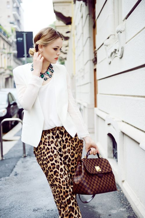 leopard print for work - it can be done if styled correctly!