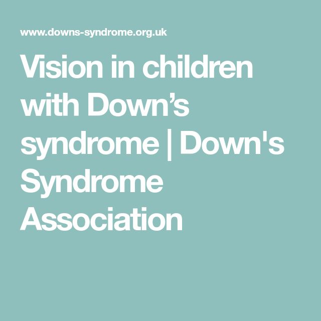 Vision in children with Down's syndrome | Down's Syndrome Association