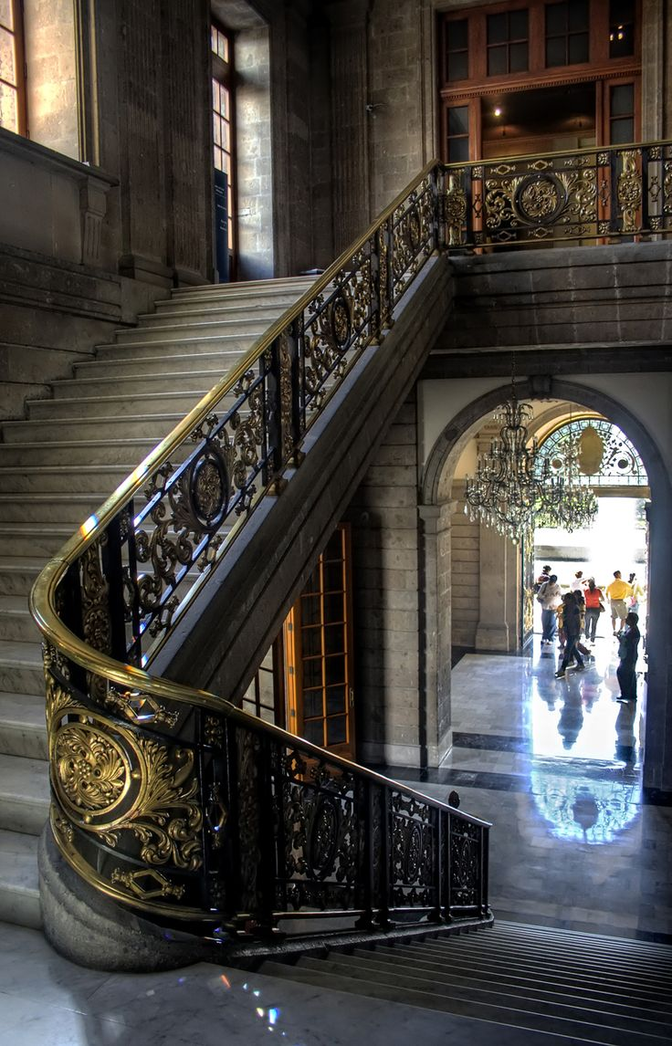 details ~ Staircase, Chapultepec Castle, Mexico City, Mexico