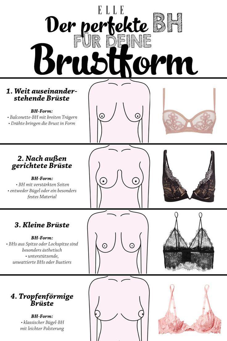 Brust auseinander stehende Brustformen