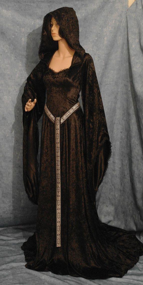 abito medievale, abito rinascimentale, vestito ELVEN, abito corsetto gothic, vestito da vampiro, halloween wedding dress, abito pagana