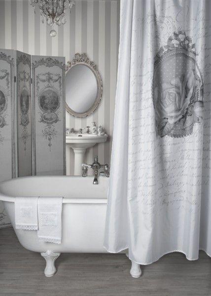 Rideau de douche Décor Roses Mathilde-M chez Cosydeco.com