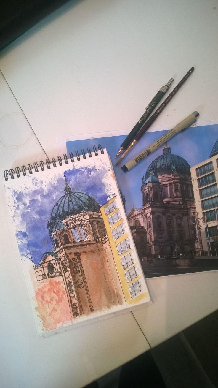 Berlin. Architecture. Urban Sketch.