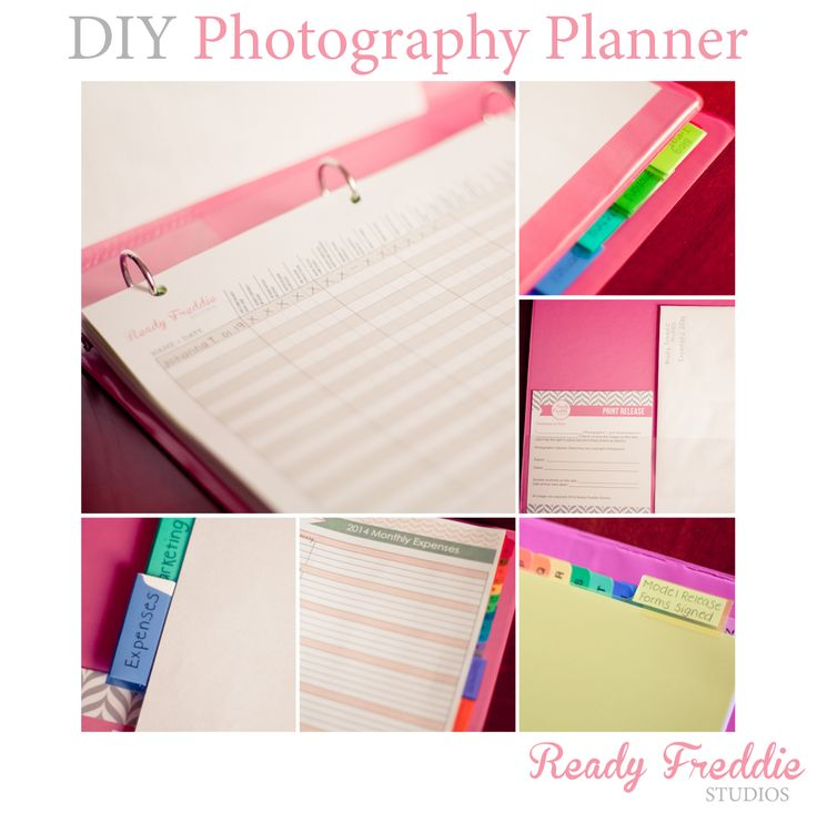 DIY Photography Planner by Ready Freddie Studios >> FREE Client Workflow Template >> Download Now!