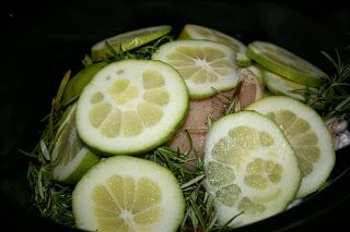 A Year of Slow Cooking: Lemon and Herb CrockPot Roasted Chicken Recipe
