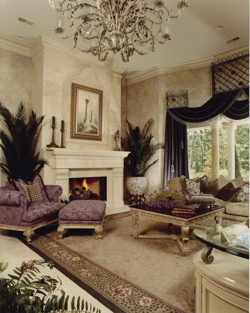 Vining Design Associates |Pinned from PinTo for iPad|. Love!  Fireplace. Stone mantel traditional french country