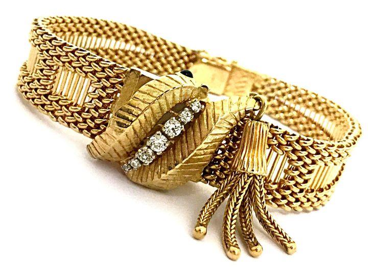 Vintage Geneve 14K Solid Yellow Diamond Accented Flip Top Luxury Women's Watch #Geneve #LuxuryDressStyles