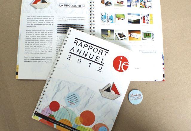 Rapport annuel 2012 Imprime-Emploi (graphisme, impression et finition) Site internet : www.imprime-emploi.com